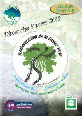 Semi marathon de la Coulée verte (Salouel - dép80 - Dim03/03/2013)