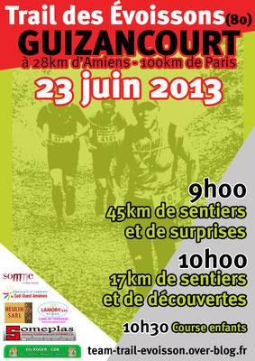 Trail des Evoissons / Paysage des Evoissons (Guizancourt - dép80 - Dim23/06/2013)
