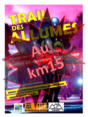 Trail des Allumés - Au km15 (Namps au Val - dép80 - 15km - Sam24/11/2018)