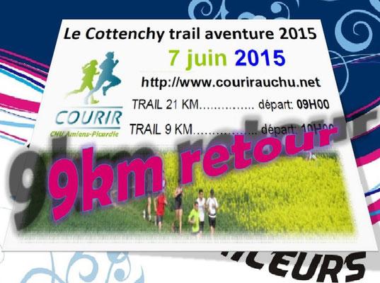 Trail de Cottenchy 2015 - 9km retour (dép80 - Dim07/06/2015)