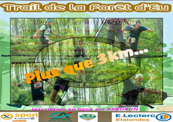 Trail de la forêt d'Eu - Plus que 3km (dép76 - 13/25km - Dim06/05/2018)