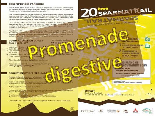 Sparnatrail 2015 - Promenade digestive (Epernay - dép51 - 15/32/57km - Dim08/11/2015)