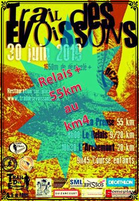 Trail des Evoissons - Relais&55km au km3 (dép80 - 9/20/55km - Dim30/06/2019)