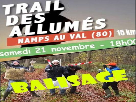 Trail des Allumés 2015 - Balisage (Namps au val - dép80 - 15km - Sam21/11/2015)