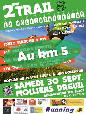 Molldreuilloise 2017 - Au km5 (Molliens-Dreuil - dép80 - 13km - Sam30/09/2017)