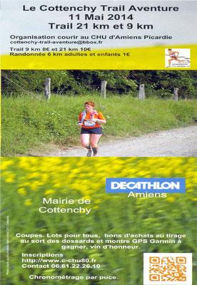 Cottenchy Trail Aventure (dép80 - 9 et 21km - Dim11/05/2014)