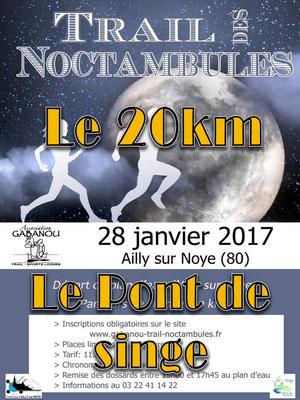 Trail des Noctambules - Le pont de singe (Ailly/Noye - dép80 - 11/20km - Sam28/01/2017)