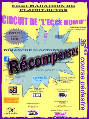 Ecce Homo - Récompenses (Plachy-Buyon - dép80 - 21km - Dim21/10/2018)