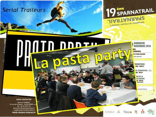 Sparnatrail 2014 - Pasta party (Epernay- dép51 - 15/32/57km - Dim09/11/2014)