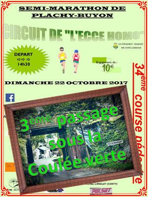 Semi-Marathon de Plachy-Buyon - 3ème passage (dép80 - 21km - Dim22/10/2017)