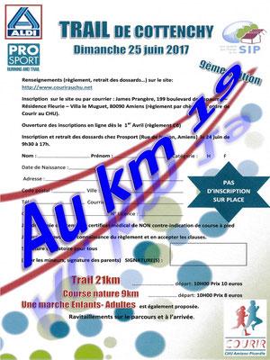 Trail de Cottenchy - Au km19 (dép80 - 9/21km - Dim25/06/2017)