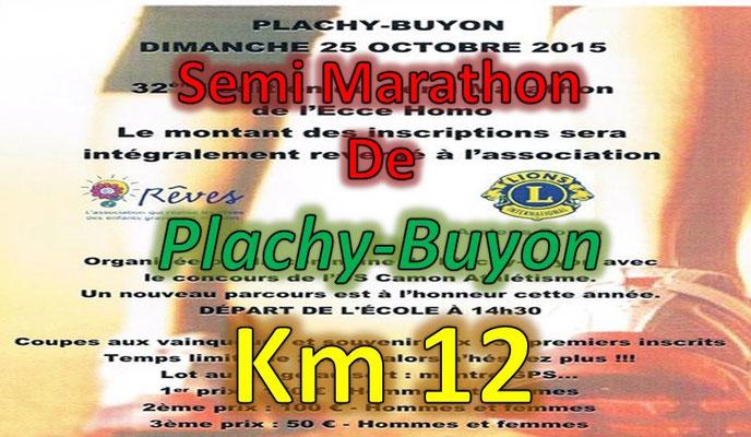 Semi Marathon de Plachy Buyon - km12 (dép80 -  21km - Dim25/10/2015)