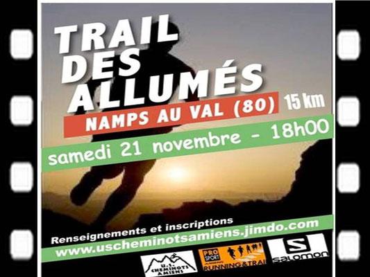 Trail des Allumés 2015 (Namps au Val - dép80 - 15km - Sam21/11/2015)