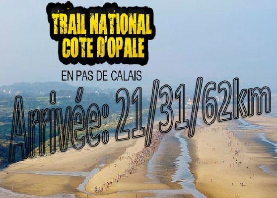 Trail de la côte d'Opale 2015 - Arrivée du 21km, 31km et 62km (Wissant - dép62 - Dim13/09/2015)