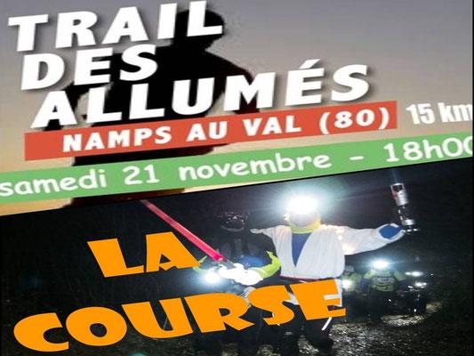 Trail des Allumés 2015 - Km14, série1 (Namps au Val - dép80 - 15km - Sam21/11/2015)