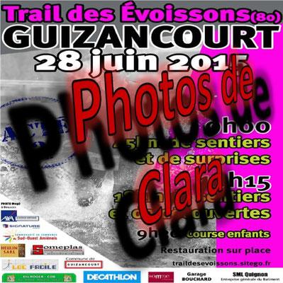 Trail des Evoissons 2015 - Photos de Clara (Guizancourt - dép80 - 18/45km - Dim28/06/2015)