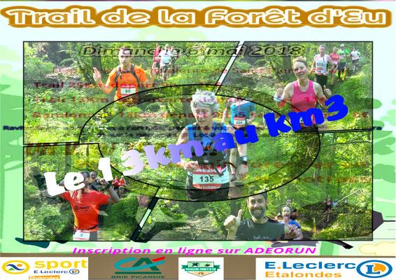 Trail de la forêt d'Eu - Le 13km au km3 (dép76 - 13/25km - Dim06/05/2018)