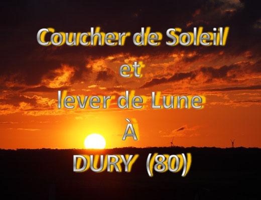 Coucher de Soleil et lever de Lune à Dury (dép80 - Dim03/05/2015)