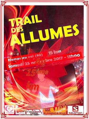 Trail des Allumés 2017 - Au 15ème km (Namps au Val - dép80 - 15km - Sam25/11/2017)