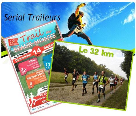 Trail des Beaux Monts - Le 32km (Compiègne - dép60 - 5/15/32km - Dim14/09/2014)