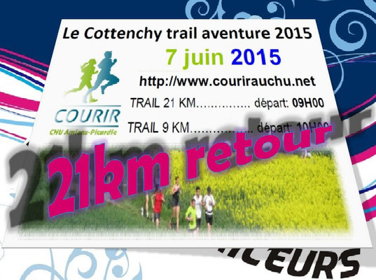 Trail de Cottenchy 2015 - 21km retour (dép80 - Dim07/06/2015)