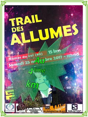 Trail des Allumés 2017 - Au 4ème km (Namps au Val - dép80 - 15km - Sam25/11/2017)