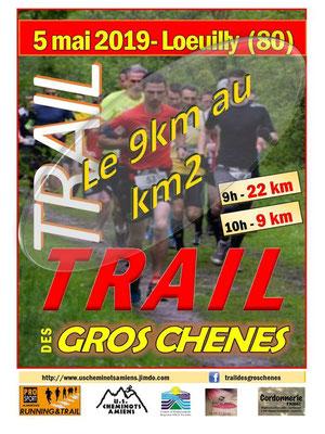 Trail des Gros Chênes - Le km9 au km2 (Loeuilly - dép80 - 9/22km - Dim05/05/2019)