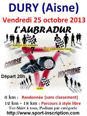 Aubradur 2013 (Dury - dép02 - 15 et 21km - Ven25/10/2013)
