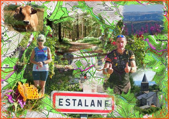 Sortie à Estalane (dép12 - 15km - Jeu16/07/2020)