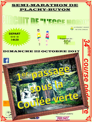 Semi-Marathon de Plachy-Buyon - 1er passage (dép80 - 21km - Dim22/10/2017)