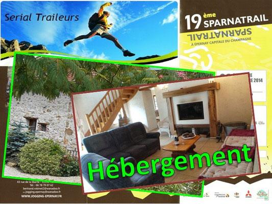 Sparnatrail 2014 - Hébergement (Epernay - dép51 - 15/32/57km - Dim09/11/2014)