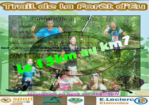 Trail de la forêt d'Eu - Le 13km au km7 (dép76 - 13/25km - Dim06/05/2018)