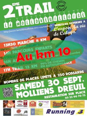 Molldreuilloise 2017 - Au km10 (Molliens-Dreuil - dép80 - 13km - Sam30/09/2017)