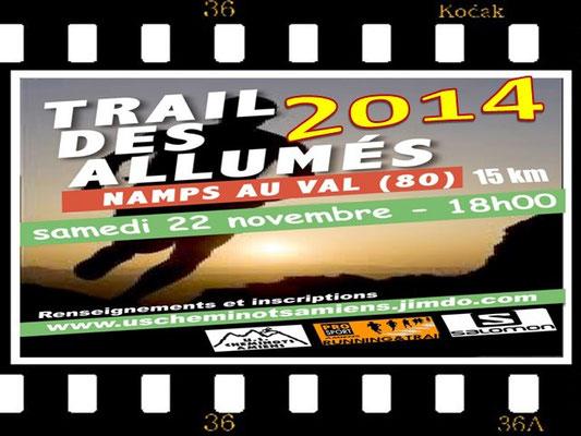Trail des Allumés 2014 (Namps au Val - dép80 - 15km - Sam22/11/2014)