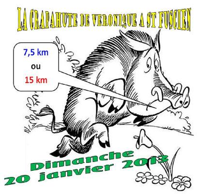 Trail de St Fuscien (dép80 - 7,5 & 15km - Dim20/01/2013). La course.