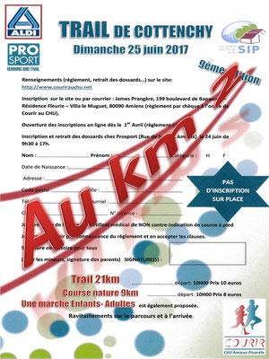 Trail de Cottenchy - Au km2 (dép80 - 9/21km - Dim25/06/2017)