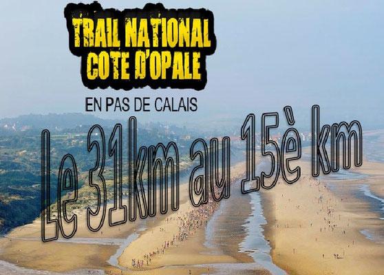 Trail de la côte d'Opale 2015 - Le 31km au 15è km (Wissant - dép62 - Dim13/09/2015)