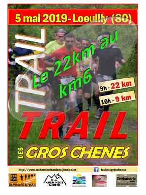 Trail des Gros Chênes - Le 22km au km6 (Loeuilly - dép80 - 9/22km - Dim05/05/2019)