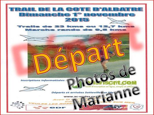 Trail de la côte d'Albâtre (Sotteville/mer - dép76 - 13/23km - Dim01/11/2015)