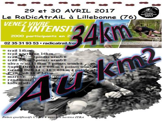 Radicatrail - Le 34km au km2 (Tancarville - dép76 - Dim30/04/2017)