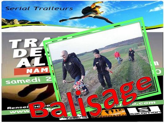 Trail des Allumés 2014 - Balisage (Namps au Val - dép80 - 15km - Sam22/11/2014)