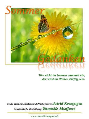 """sommer-gedanken: dauer ca. 50 minuten, geeignet für kirchen und stimmungsvolle räume; thema: """"wer nicht im sommer sammelt ein, der wird im winter dürftig sein"""""""