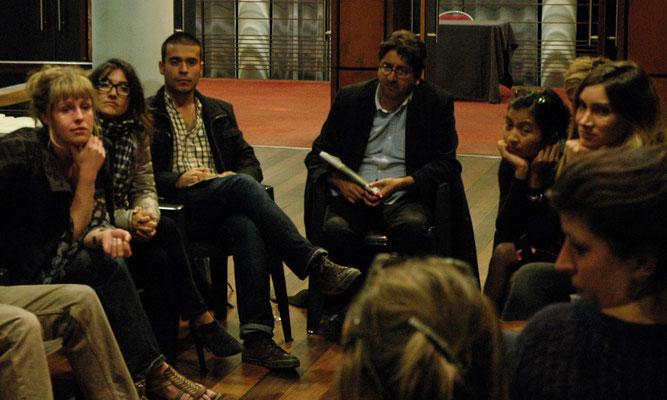 Hicham Falah, en débat avec les réalisateurs de la compétition