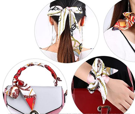 Haarband, Handgelänk Band Mitzah aus 100% Twill Seide