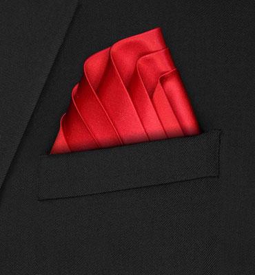 Einstecktuch Seide rot
