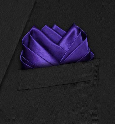 Einstecktuch Seide lilla