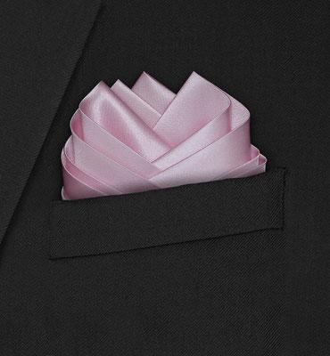 Einstecktuch Seide rosa