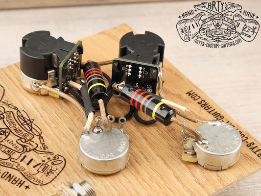 PREWIRED HARNESS LES PAUL COIL SPLIT BUMBLE BEE PREWIRED KIT artys-custom-guitars.com