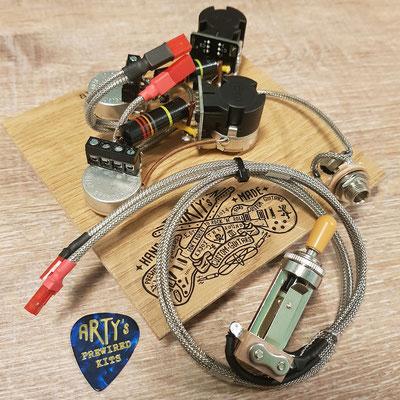 Les Paul Solderless Coil Split Prewired Kit Arty's Custom Guitars