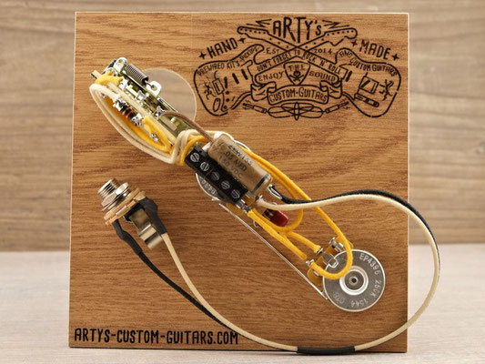 SOLDERLESS PREWIRED KIT TELECASTER Broadcaster Nocaster 1950-52 PREWIRED HARNESS Arty's Custom Guitars